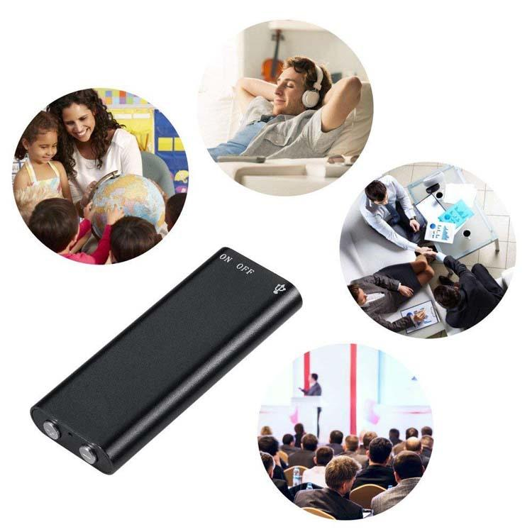 8GB Magnetic Digital Voice Activated Recorder Audio Sound Recorder MP3 4