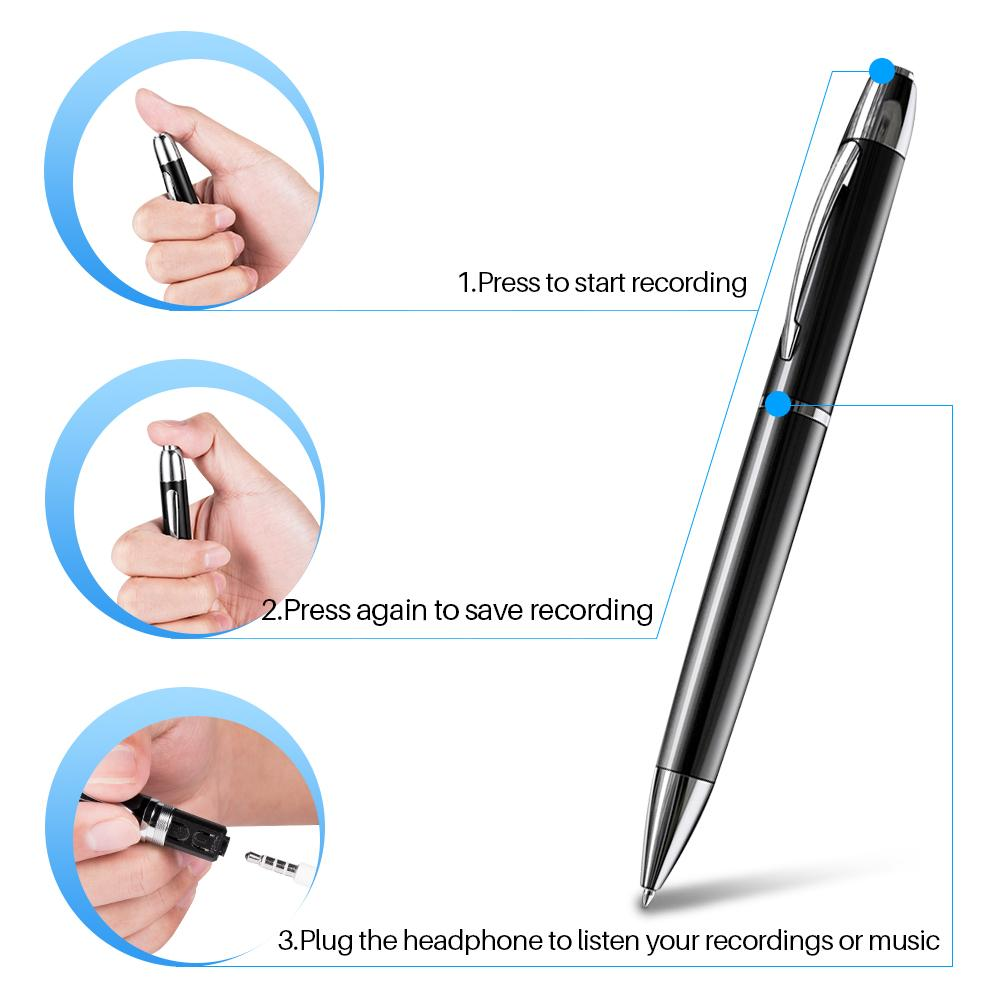 16GB Handheld Hidden Pen Digital Voice Recorder With MP3 Playing 3