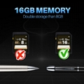 16GB Handheld Hidden Pen Digital Voice Recorder With MP3 Playing 5