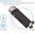 High Quality Type C Mini Spy Voice Activated Recorder Hidden Recording Device 2