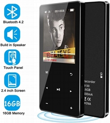 16GB MP3 Player with Bluetooth 4.2 Portable HiFi Lossless Sound MP3 Music Player