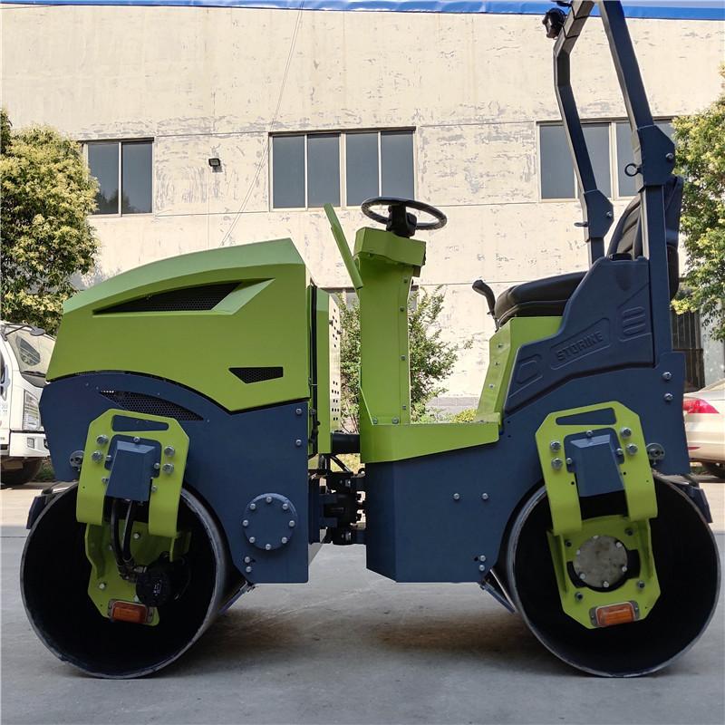 座駕手扶中小型壓路機壓實路面單輪壓路機小型 4
