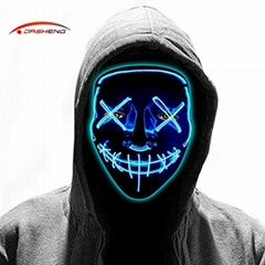 Rave Horror Glow Neon Light up Flashing LED EL Wire Halloween Party Mask
