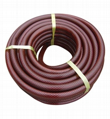 """RED Snake Skin 3/4"""" 50M PVC Flexible Reinforced Braided expanding Garden Hose"""