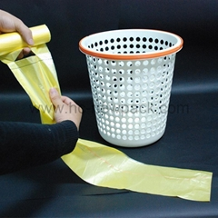 Hdpe/Ldpe Star-sealed Garbage Bag with Pp String