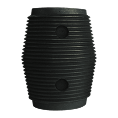 High bulk density graphite electrode nipple