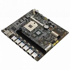 厂家直销Intel 989多网口i3 i5 I7软路由防火墙网口主板6口千兆