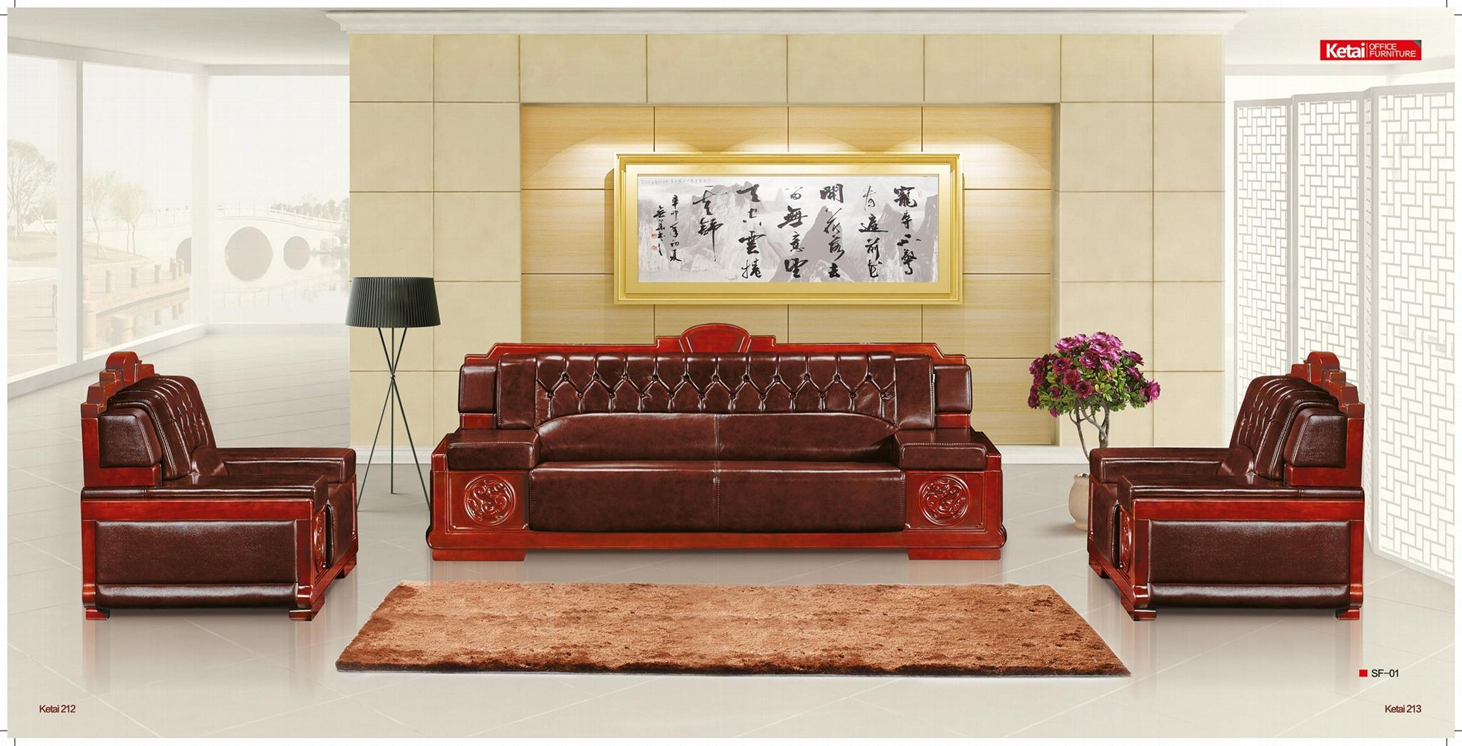 深圳牛皮沙发 5