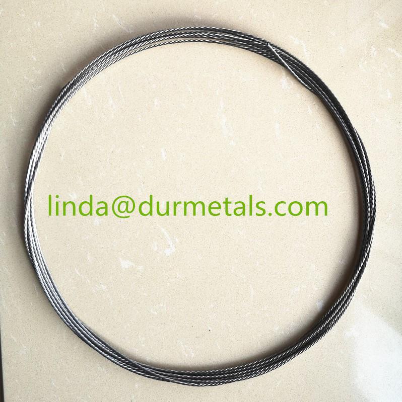 Bright tungsten stranded wires for vacuum metallization 1