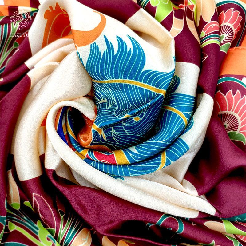 批發定製時尚真絲圍巾 2
