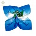 定製時尚女性真絲方巾 3
