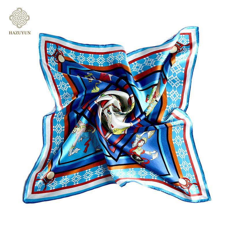 定製時尚優雅真絲圍巾 1
