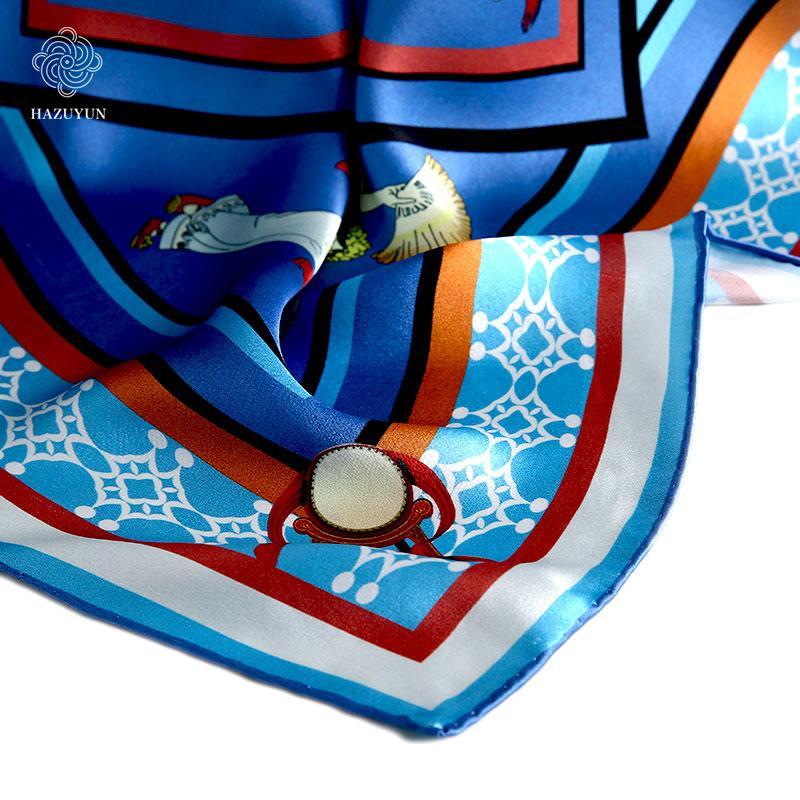 定製時尚優雅真絲圍巾 4