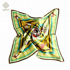 定製絲綢印花方形圍巾