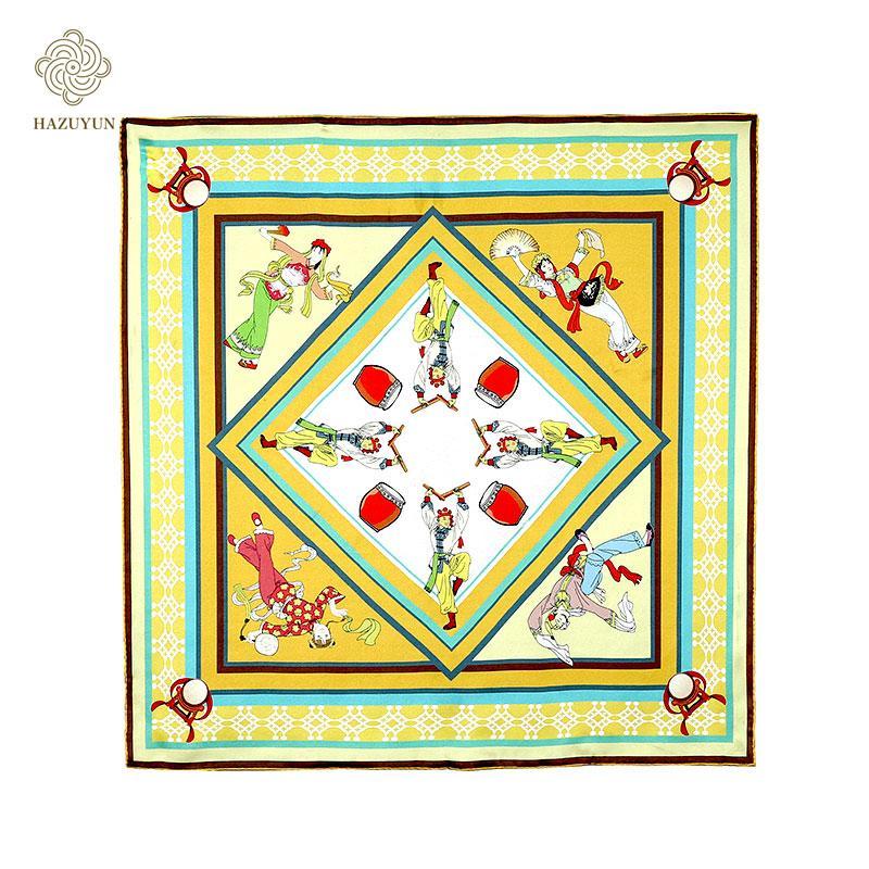 定製絲綢印花方形圍巾 2