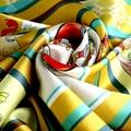 定製絲綢印花方形圍巾 3