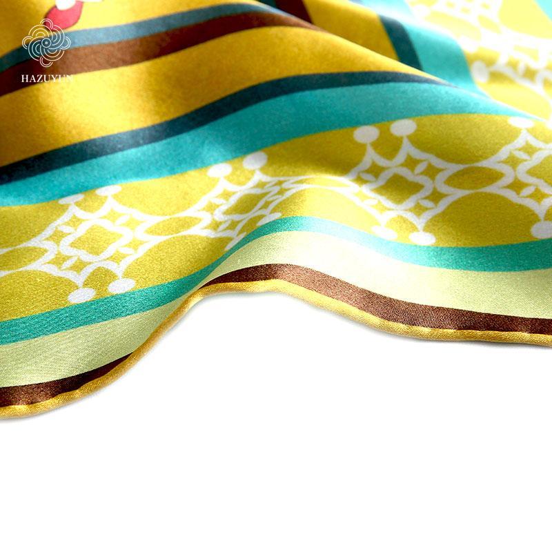 定製絲綢印花方形圍巾 5