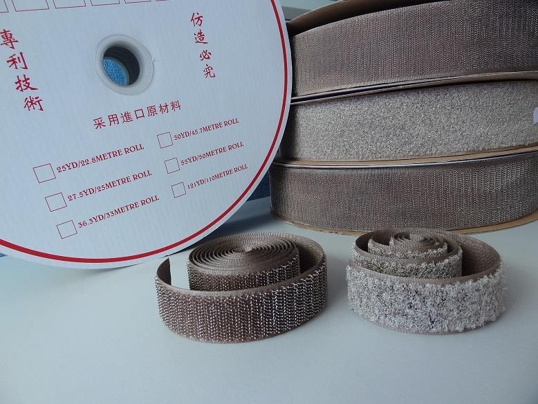 镀银纤维导电魔术贴魔鬼贴粘扣带搭扣紧固带用于防静电用品 1
