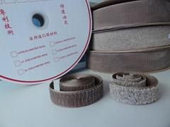 镀银纤维导电魔术贴魔鬼贴粘扣带搭扣紧固带用于防静电用品