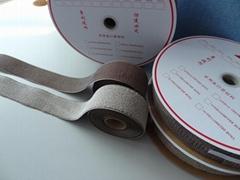 鍍銀纖維導電鉤毛魔朮貼魔鬼貼粘扣帶搭扣用於導電用品