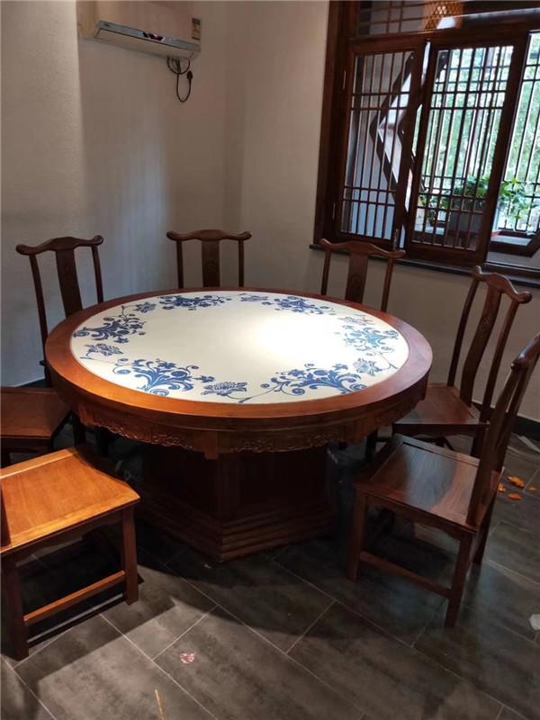 杭州餐廳實木桌椅沙發傢具定製 2