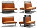 杭州餐廳實木桌椅沙發傢具定製 3