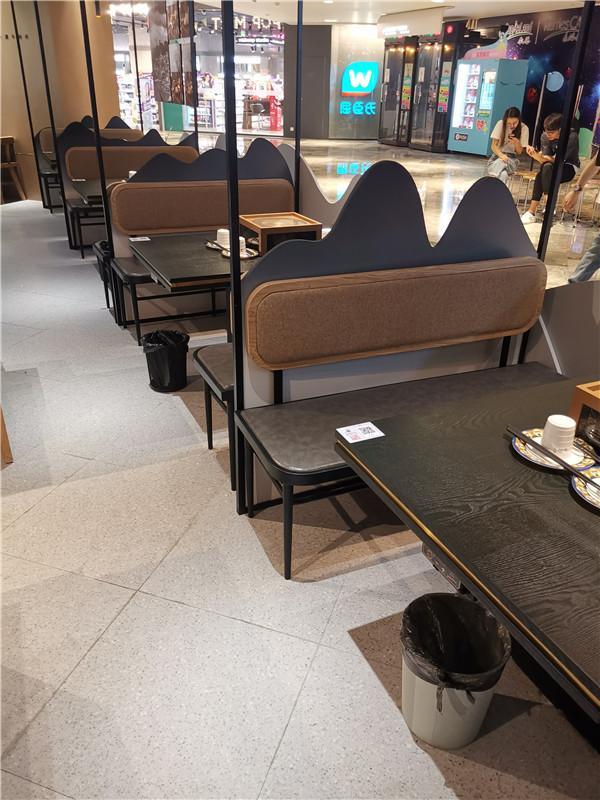 杭州餐廳實木桌椅沙發傢具定製 4