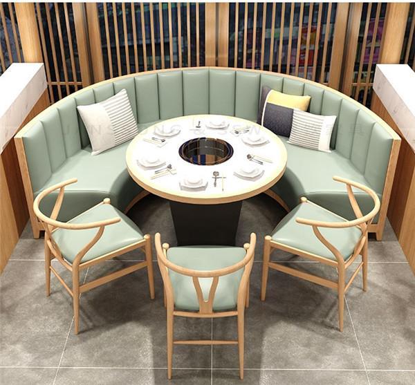 杭州咖啡廳沙發火鍋店桌椅定做 1