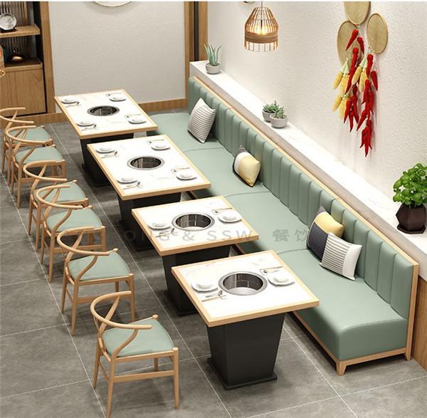 杭州咖啡廳沙發火鍋店桌椅定做 2