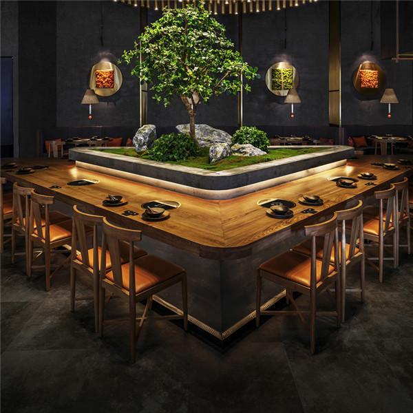 杭州實木餐飲酒樓桌椅廠家定做 3
