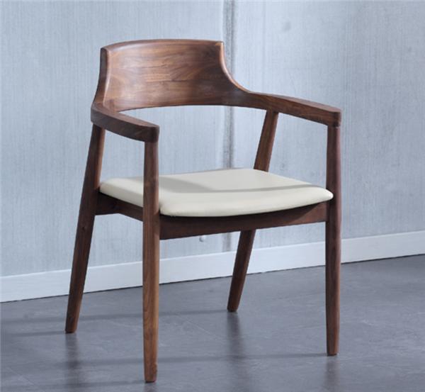 杭州高檔黑胡桃桌椅傢具定製 2