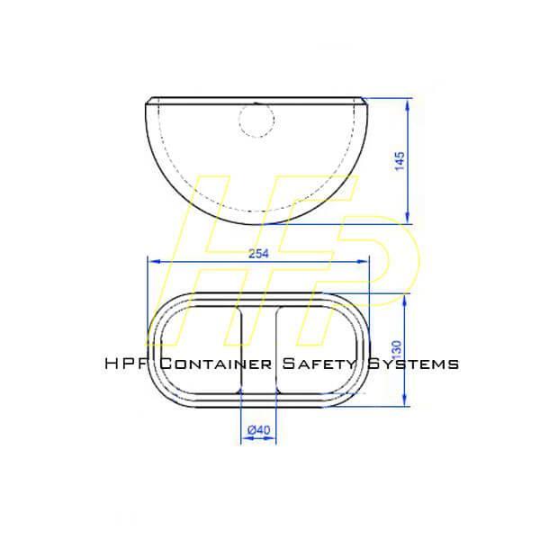 半圓埋入底座-集裝箱綁紮系固槽座 3
