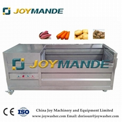 Brush Roller Vegetable Washing And Peeling Machine