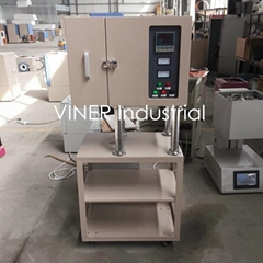 Split Vertical Tube Furnace with Quartz Tube & SS Vacuum Flanges