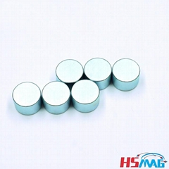 NdFeB Round Quadrapolar Magnet Disc N30AH Zn Coating