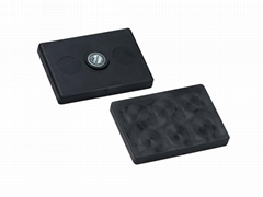 Rubber Covered Rectangular Magnet Assembly NdFeB