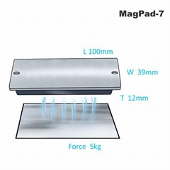 MagPad-7 Rubber Covered Throuh Hole MagPad Magnet