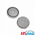 Encased Alnico Magnets with Unthreaded Hole