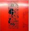 紙質賀卡激光鏤空雕刻雕花