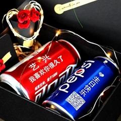 上海抖音同款定制易拉罐刻字DIY七夕情人节表白生日礼物