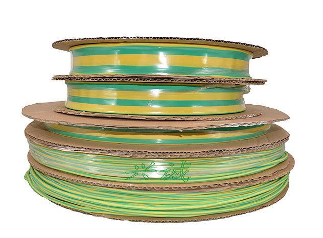 低温收缩地线标识专用黄绿双色125度热缩管 3
