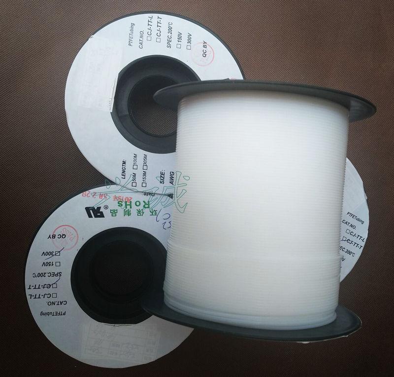 铁氟龙套管PTFE 特氟龙耐高温绝缘不收缩套管 3