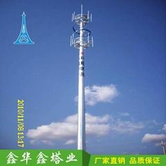 单管通信塔 独管通信塔 钢管通信塔厂家直销