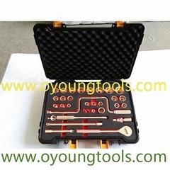 """Non Sparking Tools Socket Set 1/2""""Dr 32Pcs Copper Beryllium ATEX"""