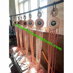 Non Sparking Tools Lifting Chain Hoist Block Copper Beryllium