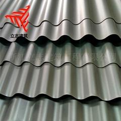 鋼結構廠房外牆系統836型鋁鎂錳合金波紋板 橫鋪裝0.8mm厚氟碳漆