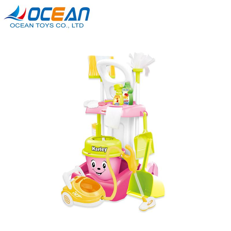 Hot sale kids cleaning set house keeping toy cleaner with vacuum 1