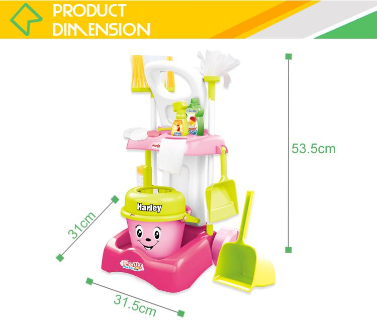 Hot sale kids cleaning set house keeping toy cleaner with vacuum 2