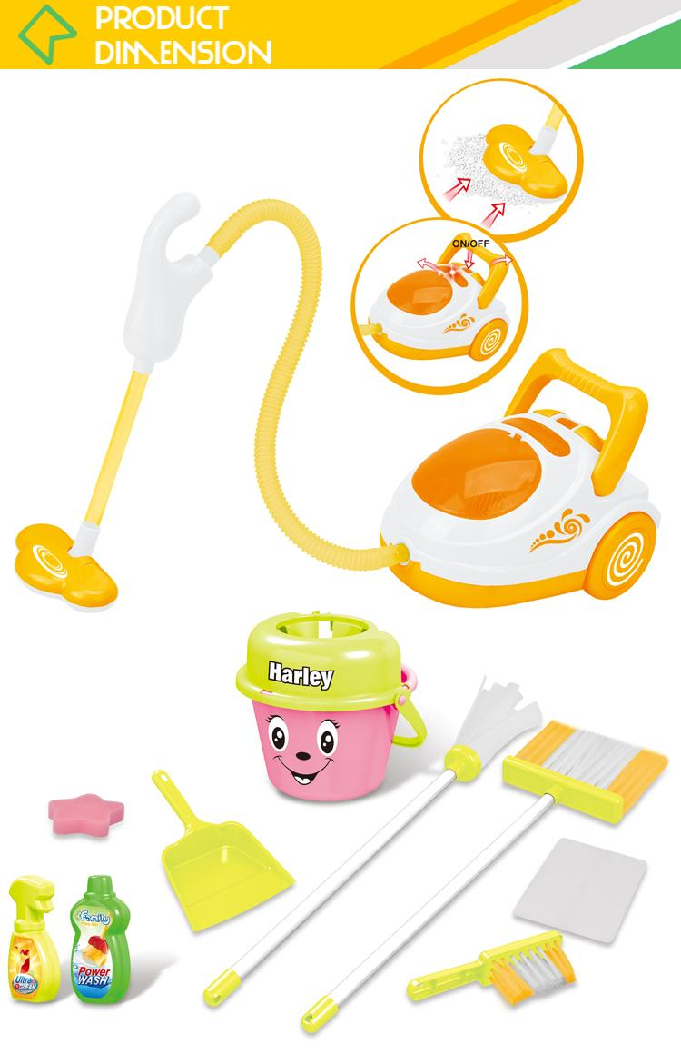 Hot sale kids cleaning set house keeping toy cleaner with vacuum 3