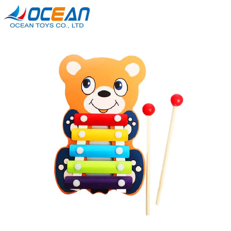 Wholesale miniature musical instruments toys wooden xylophone for kids 1